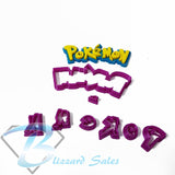 Pokemon Logo Cookie Fondant Cutter 5cm 7cm 10cm 15cm Set Birthday Cake Superhero