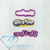 Shopkins Logo Cookie Fondant Cutter Cake Decorating 5cm 7cm 10cm 18cm