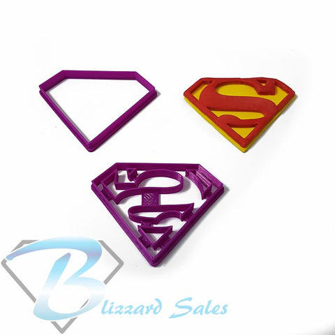 Superman Logo Cookie Fondant Cutter