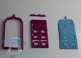 Dr Who Tardis Cookie Fondant Cutter 5cm 7cm 10cm Set Birthday Cake Decorating
