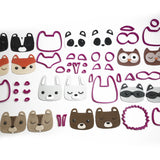 Woodland Animal Set 33 Piece Cookie Fondant Cutter set - 5cm 7cm 10cm