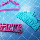 fortnite-logo-cookie-fondant-cutter-blizzard-sales embossing from another angle