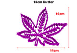 Marijuana Weed Leaf Cookie Fondant Cutter Blizzard Sales 14cm Cutter