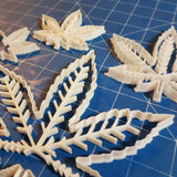 Marijuana Weed Leaf Cookie Fondant Cutter Blizzard Sales full set 2