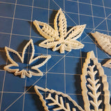 Marijuana Weed Leaf Cookie Fondant Cutter Blizzard Sales full set 3