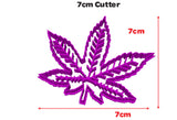 Marijuana Weed Leaf Cookie Fondant Cutter Blizzard Sales 7cm Cutter