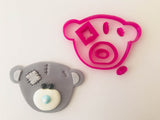 Patchwork Bear Head Cookie Fondant Cutter example