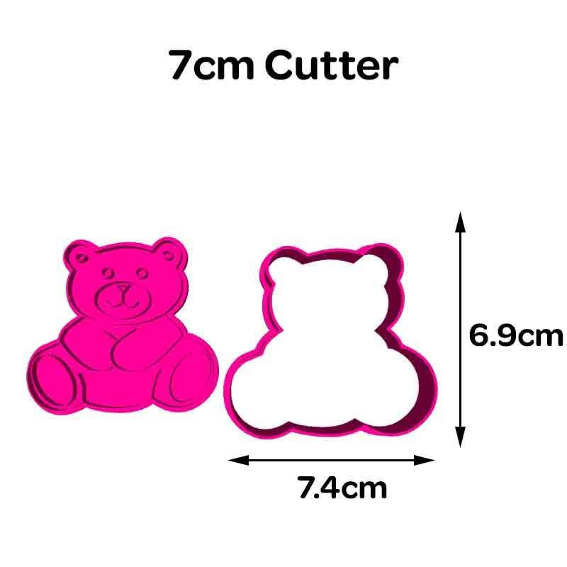 Teddy Bear Embosser with Cookie Fondant Cutter