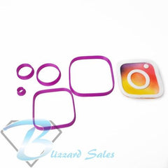 Social Media Icon Instagram Logo Fondant Cookie Cutter