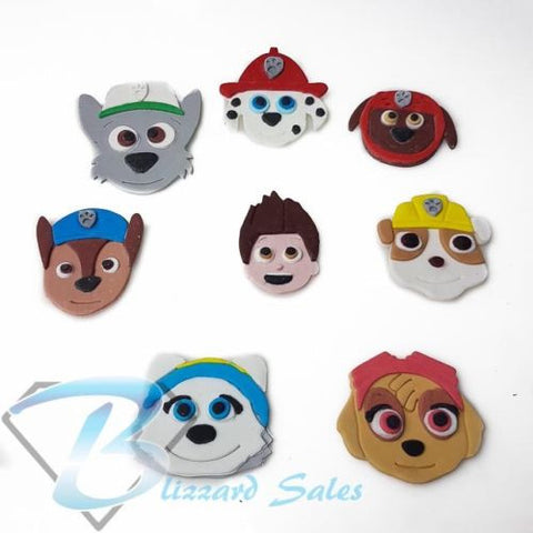 Paw Patrol Face Set of 8 Characters Fondant Cookie Cutter 5cm 7cm 10cm