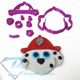 Paw Patrol Face  Marshall Fondant Cookie Cutter