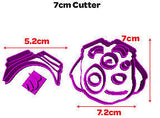 Paw Patrol Face Skye Fondant Cookie Cutter 5cm 7cm 10cm Cake Decorating