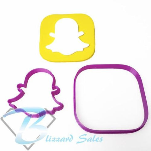 Social Media Icon Snapchat Logo Fondant Cookie Cutter
