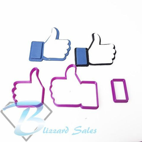 Social Media Icon Logo Facebook Like Fondant Cookie Cutter
