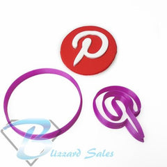Social Media Icon Pintrest Logo Fondant Cookie Cutter