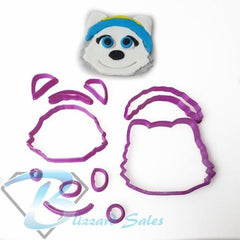 Paw Patrol Face Everest Fondant Cookie Cutter
