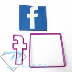 Social Media Icon Facebook Logo Fondant Cookie Cutter
