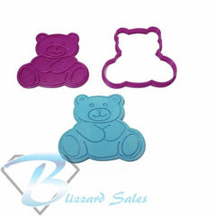 Teddy Bear Embosser with Cookie Fondant Cutter 5cm 7cm 10cm Cake Decorating Tool