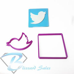 Social Media Icon Twitter Logo Fondant Cookie Cutter