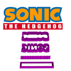 Sonic The Hedgehog Logo Cookie Fondant Cutter