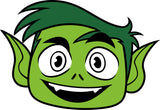 Teen Titans Beast Boy Cookie Fondant Cutter
