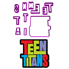 Teen Titans Logo Cookie Fondant Cutter