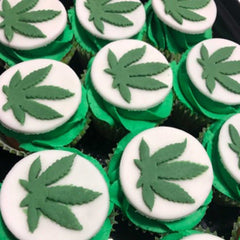 Marijuana Weed Leaf Cookie Fondant Cutter Blizzard Sales Cupcake Example