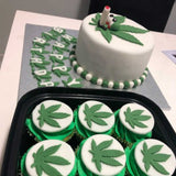Marijuana Weed Leaf Cookie Fondant Cutter Blizzard Sales Cupcake and cake Example