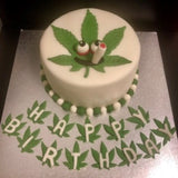 Marijuana Weed Leaf Cookie Fondant Cutter Blizzard Sales cake Example