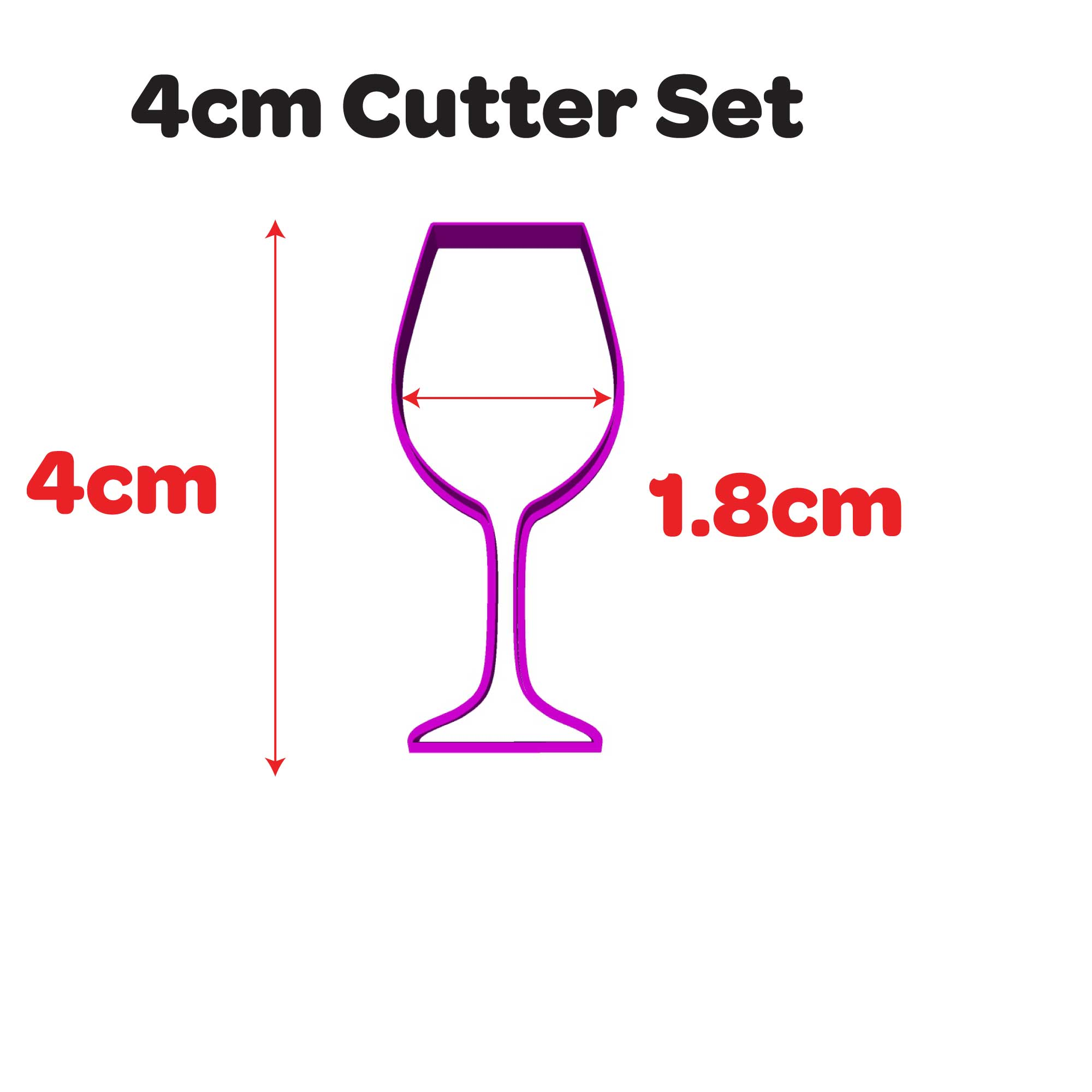 Wine glass Cookie Fondant Cutter