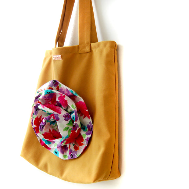 SUSTAINABLE TOTE MUSTARD