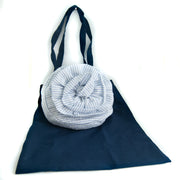PULSETA -TOTE ROSE BLUE STRIPES