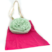 PULSETA -TOTE ROSE GREEN STRIPES
