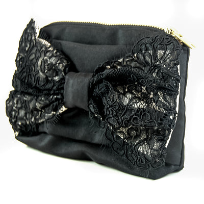 PULSETA LACE BOW BLACK