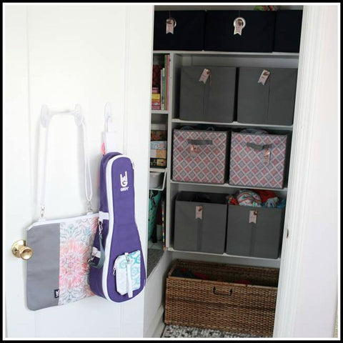 GiGY Guitar and Ukulele Cases and Shelf Help Interior Design Guitar and Ukulele Display