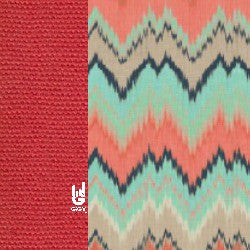 GiGY™ Big Pote Coral, Mint, and Navy Chevron