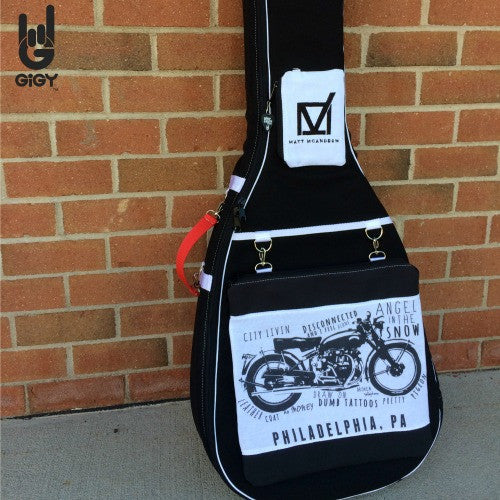 Acoustic GiGY™ case with Custom Logo Big Pote, Mini Pote and coordinating Handle