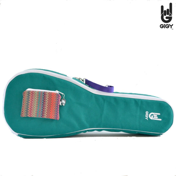 Tenor Ukulele Gig Bag Case_fun_jade green_navy_blue_purple_terra cotta orange_pink