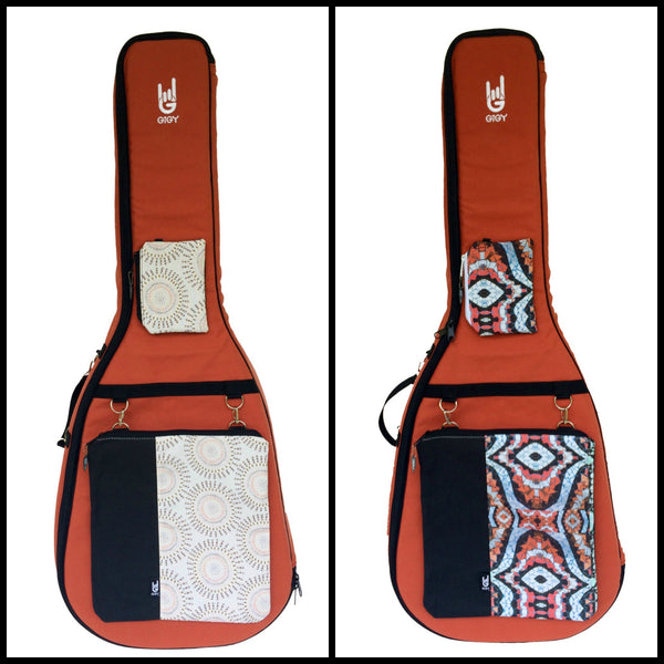 GiGY Terra Cotta Orange Acoustic Guitar gig bag case