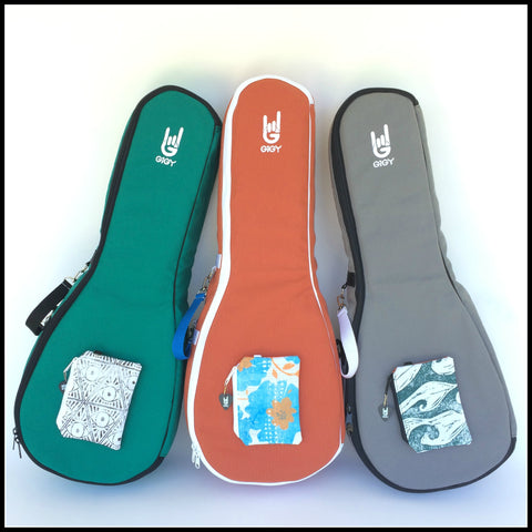 GiGY Ukulele Gig Bag Case_tenor_pink_purple_jade green_blue_navy_terra cotta orange_gray