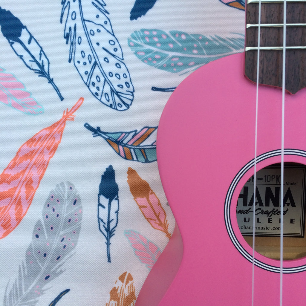 Pink Ohana Ukulele with your choice of GiGY® Bag and Mini Pote