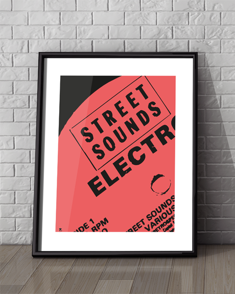 Framed example of our Street Sounds Modern artwork design