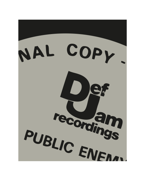 Close up of our Def Jam Modern Public Enemy artwork design