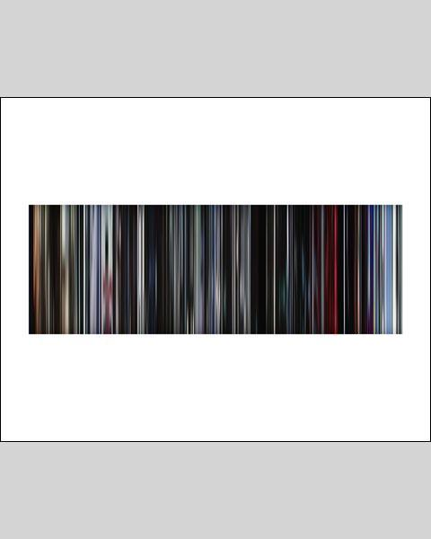 2001 A Space Odyssey - Movie Barcode