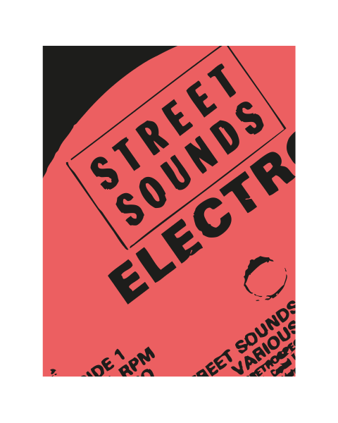 Close up of our Street Sounds Modern artwork design