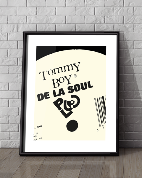 Framed illustration of our Tommy Boy Modern, De La Soul artwork design