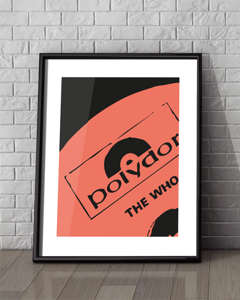 of our Polydor Modern The Who artwork design