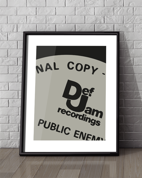 Framed example of our Def Jam Modern Public Enemy artwork design