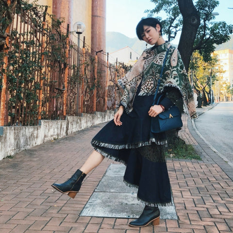 Esemble Seen On Panther Chan 陳蕾 AW19 Drift Lady Bag Reef_29012019