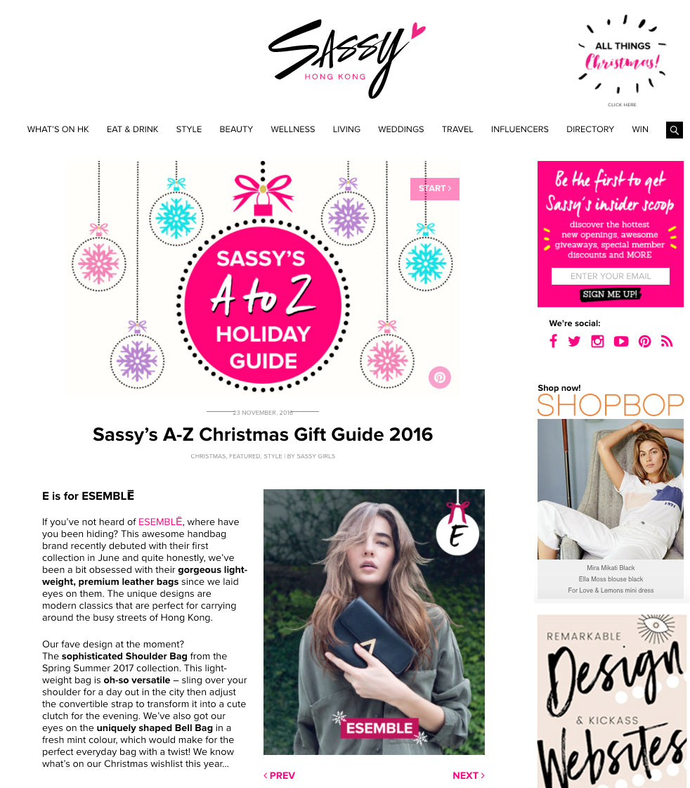 esemble press december 2016 black park shoulder bag sassy